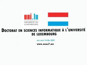 Doctorat en informatique à l'université de Luxembourg