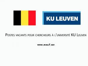 Vacancies at university of KU Leuven Belgium:
