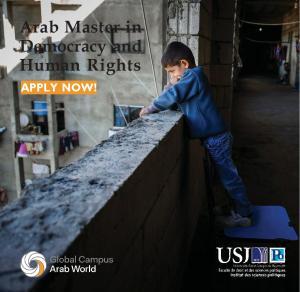 Master arabe en démocratie et droits de l'homme