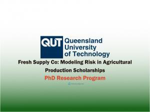Fresh Supply Co: Modélisation du risque dans les bourses de doctorat en production agricole, Australie 2021-22