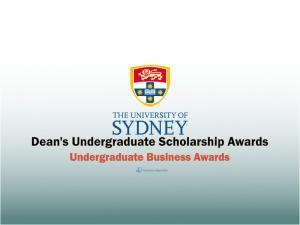 Bourses internationales de premier cycle du doyen à l'Université de Sydney, Australie